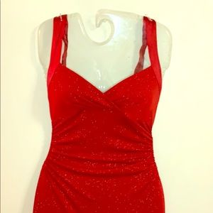 City Triangles Dresses - Elegant Floor Length Red Strapless Dress